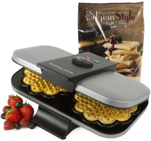 Andrew James Double Waffle Maker Machine 1300 Watts
