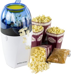 Andrew James Hot Air Popcorn Maker -Includes 4 Popcorn Boxes