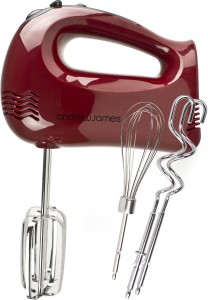 Andrew James Powerful 300 Watt Red Hand Mixer