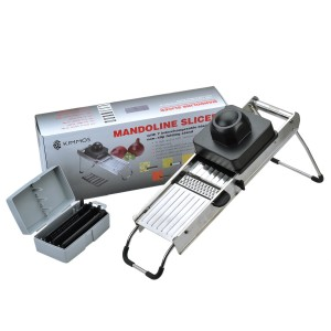 Kimmos Stainless Steel Professional Mandoline Slicer 7 in 1 Set