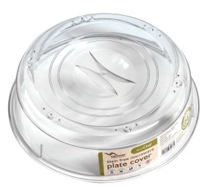 Microwise ecoChef microwave plate cover with air vents - transparent & stain free